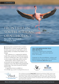 Frontiers in South African Ornithology: Conference Announcement and call for paper/poster titles and abstracts